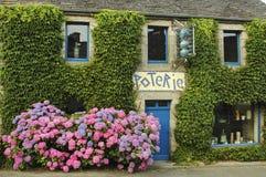 Lampaul-Guimiliau (Bretagne, Frankrijk) Royalty-vrije Stock Foto's
