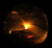 Lampe à fibres optiques photographie stock libre de droits