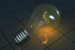 Lampe à incandescence Image libre de droits