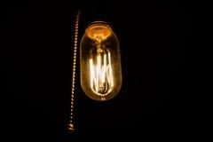 Lampe à incandescence de vintage Photos libres de droits