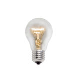 Lampe à incandescence rougeoyante sur un fond clair Photographie stock libre de droits