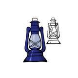 Lampe à pétrole Photo stock