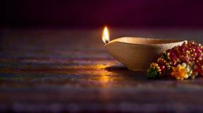 Lampe à pétrole de Diwali photo libre de droits