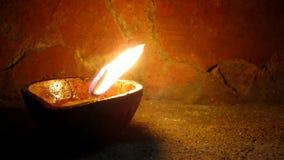 Lampe à pétrole indienne Diya photographie stock libre de droits