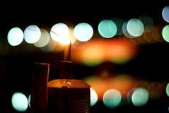 Lampe à pétrole thaïlandaise avec le fond de bokeh photos stock