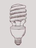 Lampe économiseuse d'énergie Images libres de droits