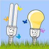 Lampe économiseuse d'énergie Photo stock