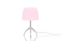 Lampe élégante en métal avec l'abat-jour rose Photos libres de droits