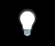 Lampe électrique blanche lumineuse Photos libres de droits