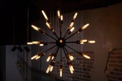 Lampe électrique de vieille ampoule Photos stock