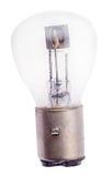Lampe électrique incandescente avec trois électrodes sur le blanc Photos stock