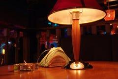 Lampe électronique avec l'abat-jour Image libre de droits
