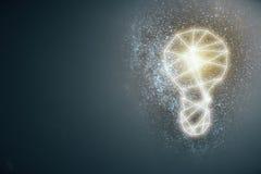 Lampe abstraite sur le fond gris illustration libre de droits