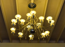 Lampe antique de plafond Photos stock