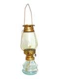 Lampe antique sur Backgound blanc Image libre de droits