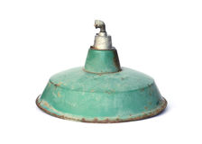 Lampe antique verte photographie stock