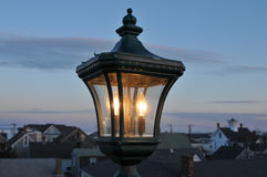Lampe au crépuscule Images libres de droits