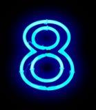 Lampe au néon numéro 8 Image stock