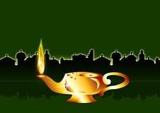 Lampe auf Grün Lizenzfreie Stockfotos