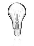 Lampe auf weißem Hintergrund Lizenzfreies Stockbild