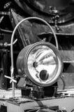 Lampe avant d'un train image stock