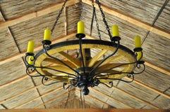 Lampe avec des bougies Photo stock