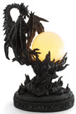 Lampe avec la forme du dragon Photo stock