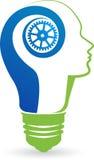 Lampe avec le logo principal illustration de vecteur