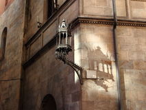Lampe beschattet Tanzen auf der Wand lizenzfreies stockfoto