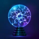 Lampe bleue de boule de plasma de vecteur Photos libres de droits