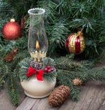 Lampe brûlante de Noël Images libres de droits
