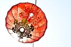 Lampe chinoise de lanterne d'an neuf Images libres de droits