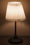 Lampe classique avec l'abat-jour rond de tissu Image stock