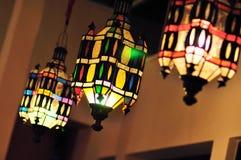 Lampe colorée de plafond d'art déco de vintage Photographie stock libre de droits