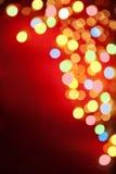 Lampe colorée de tache floue au cadre faisant le coin photographie stock libre de droits