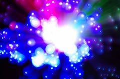 Lampe décorative multicolore en verre de fibre Photos libres de droits