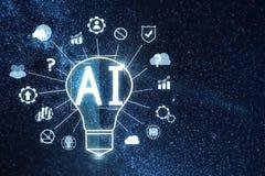 Lampe d'Astract AI dans l'espace illustration libre de droits