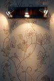 Lampe d'endroit de mur Image libre de droits