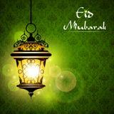 Lampe d'Iluminated sur Eid image libre de droits