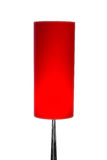 Lampe d'isolement de rouge de conception moderne Photographie stock libre de droits