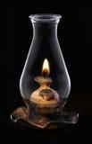 Lampe d'ouragan de Lit d'isolement sur le noir, Image libre de droits