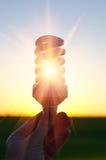 Lampe dans le rayon de soleil Photos libres de droits
