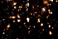 Lampe dans un lustre en cristal élégant Image stock