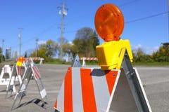Lampe de barricade du trafic image libre de droits