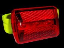 Lampe de bicyclette d'isolement sur le noir Images libres de droits