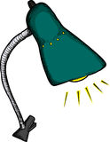 Lampe de bureau à agrafe Photo libre de droits