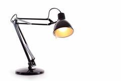 Lampe de bureau noire de vintage photographie stock libre de droits