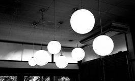 lampe de cercle Image stock