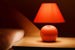 Lampe de chevet photo stock