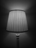 Lampe de chevet en noir et blanc Image libre de droits